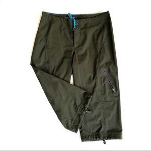Columbia Green Crop Capri Bungee Lightweight Pants
